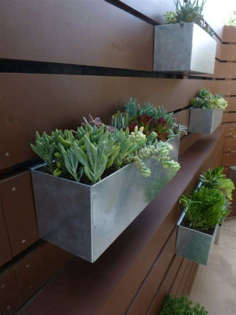 hanging planter box metal hanging planter box horizontal fence planter