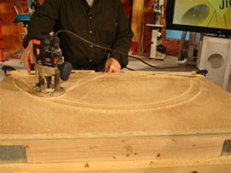 radius woodworking how to use a radius cutting jig how tos diy