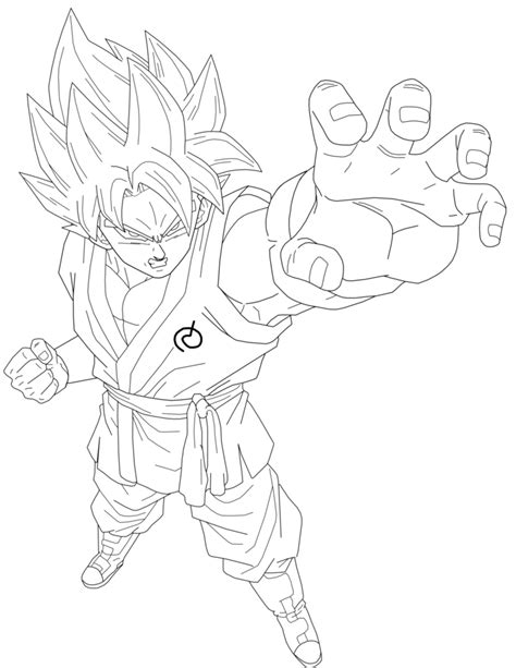 ssgss goku coloring pages vegeta dragon ball super ssgss lineart by