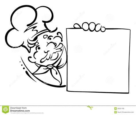 banche immagini gratis cuoco unico sorridente con il menu illustrazione