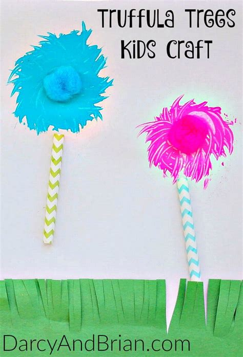 Dr Seuss Craft Truffula Trees Fork Painting » Life With Darcy and Brian