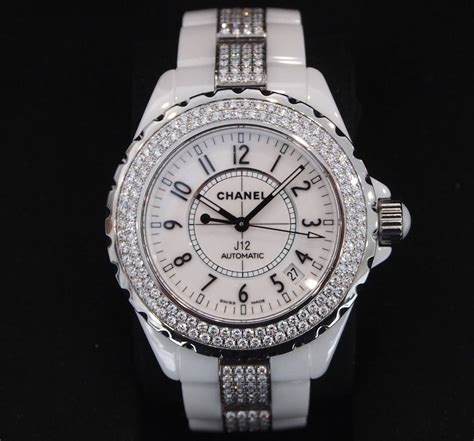 Chanel Ceramic White chanel j12 38mm white ceramic w bezel and