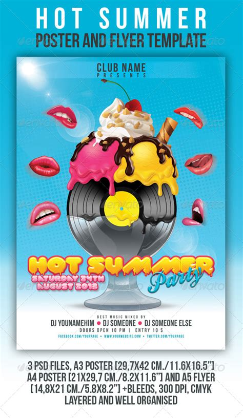templates for posters and flyers print template graphicriver hot summer poster and flyer