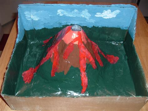 Handmade Volcano - make a volcano project how things work