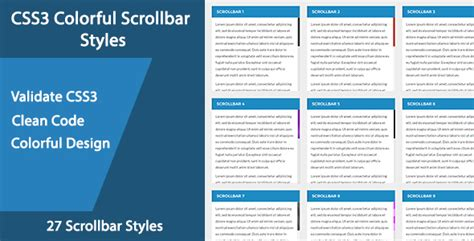 css style scrollbar in div css3 colorful scrollbar styles jogjafile