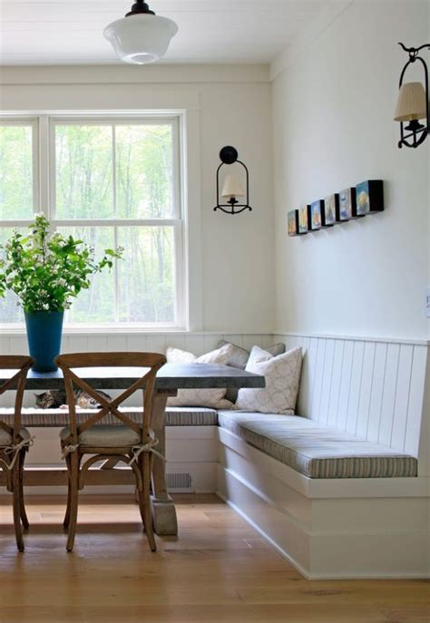 eat in kitchen banquette table home architecture