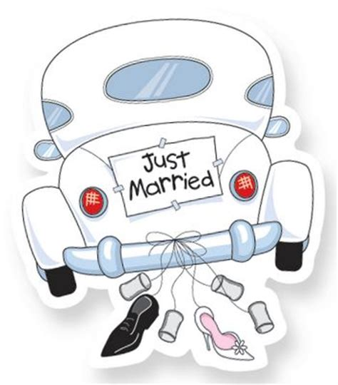 Spielzeug Auto Just Married by Dibujos Clipart Digi St Wedding Just Married Car
