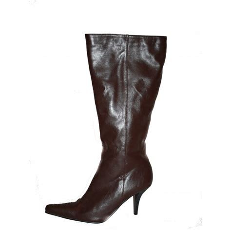6 high heel boots leggsy brown high heel point boots by leggsy size 6