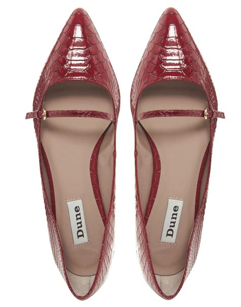 flat pointed shoes dune mathe pointed flat shoes in lyst