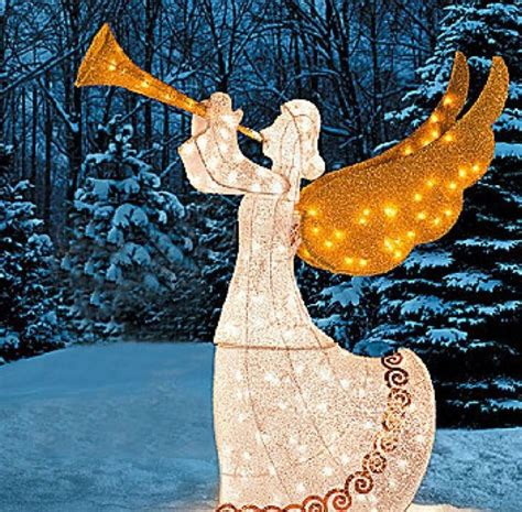outdoor lighted christmas angel womens prana size small tunic length shirt gardens yard