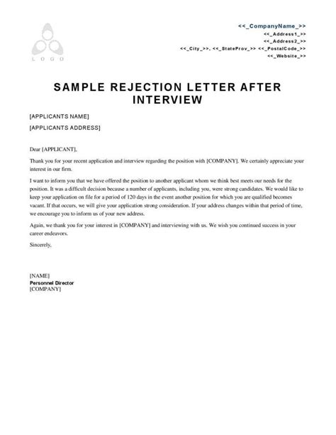 College Admission Rejection Letter Sle sle rejection letter sle rejection letter reply letter