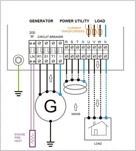 automatic generator transfer switch wiring diagram 50