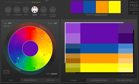 tetrad color scheme website design are any hue angles are together