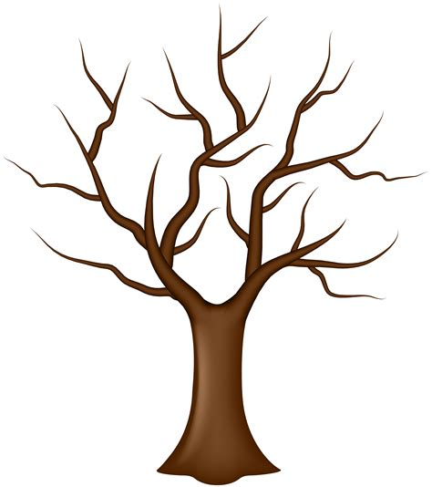 tree template without leaves tree with no leaves clipart clipground