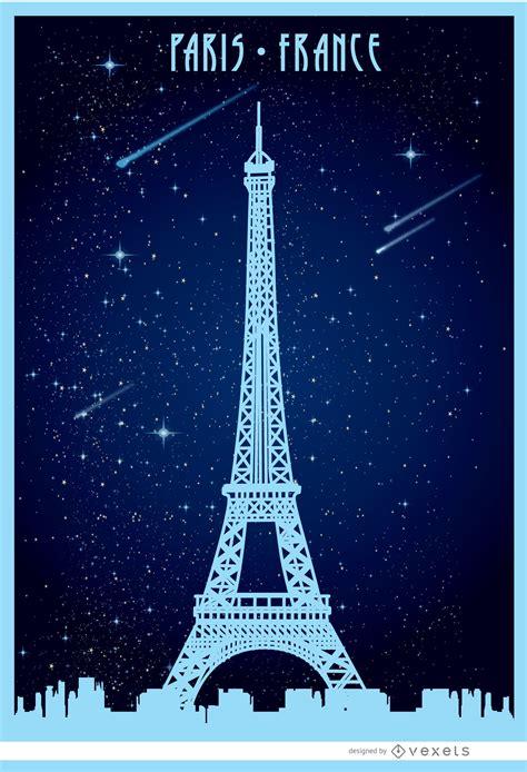 Eiffel Tower Poster eiffel starry poster vector