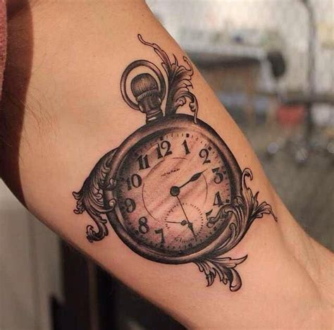 old pocket watch tattoo designs pocket ideas artworks
