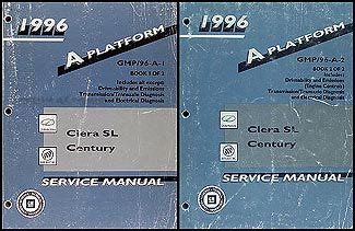 service and repair manuals 1996 oldsmobile ciera navigation system 1996 century and cutlass ciera sl repair shop manual set buick oldsmobile olds ebay