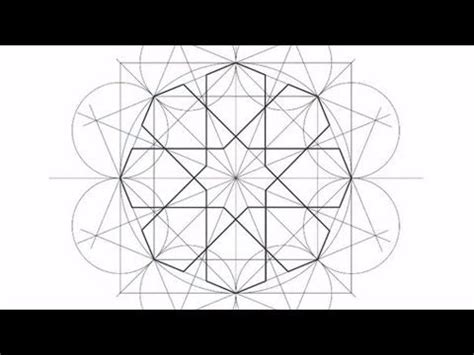 islamic pattern tutorial how to draw islamic geometry full tutorial 8 fold