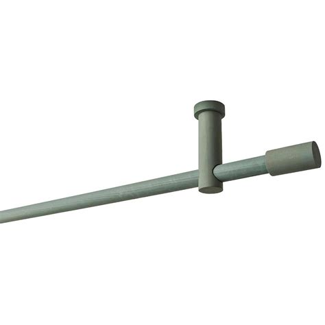 long curtain rod brackets 95 in curtain rod kit in forest with long finials and