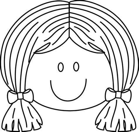 Girl Face Coloring Page   fablesfromthefriends.com
