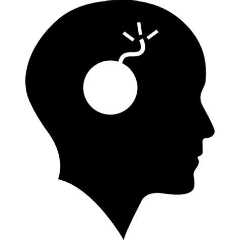 la bomba in testa testa calva con una bomba scaricare icone gratis