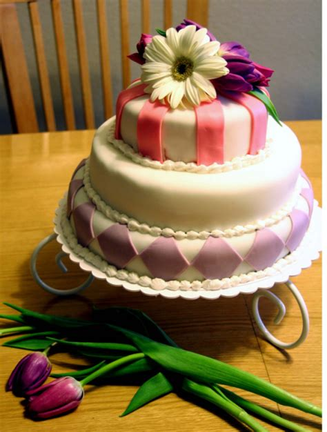 beautiful mothers day cake  fresh flowerspng