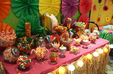 theme buffet names luau tropical candy buffet bar hawaiian luau party