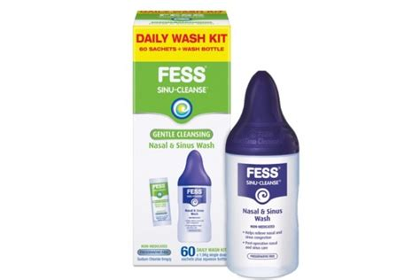 Sinus Detox Symptoms by Fess Sinu Cleanse Gentle Cleansing Nasal Sinus Wash