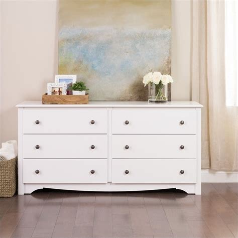 six drawer dresser white 6 drawer double dresser wdc 6330 k