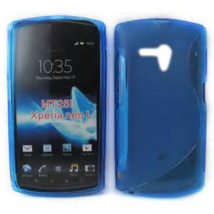 Handphone Sony Xperia Neo L Mt25i sony ericsson xperia neo l mt25i s line gel blue gultek limited