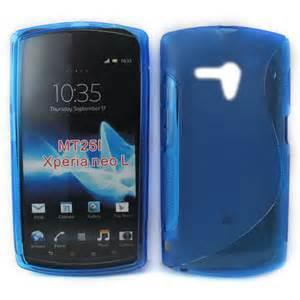 Handphone Sony Xperia Neo L Mt25i sony ericsson xperia neo l mt25i s line gel blue