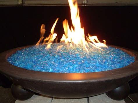 Tropical Blue Fire Glass Flame Creation Gaslight Firepit