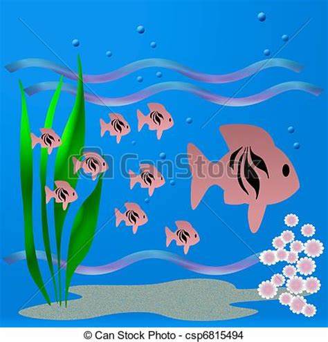 swimming illustrations and clipart can stock photo drawing of fishy world fish school swimming in