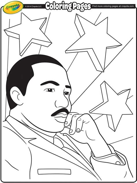 martin luther king jr coloring page crayola com