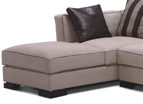 Modern Beige Sofa Beige Fabric 8122 Modern Sectional Sofa