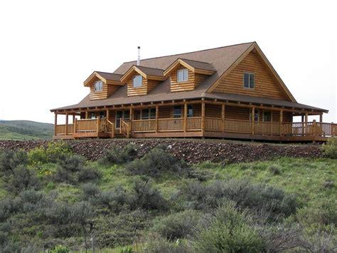 log homes with wrap around porches like the wrap around porch houses