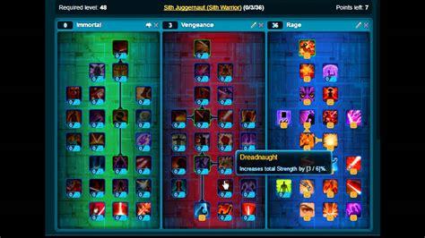 swtor sith sorcerer lightning build 30 swtor sith warrior juggernaut leveling build 2 5 youtube