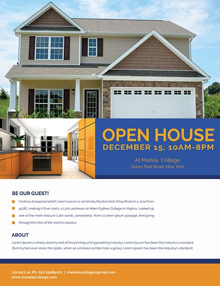 29 Free Real Estate Flyer Templates Download Ready Made Template Net Open House Mortgage Flyer Templates