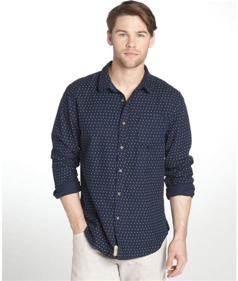 Buttondown Shirt Blue Polka Ls jachs navy and blue polka dot cotton sleeve button dress shirt where to buy how to