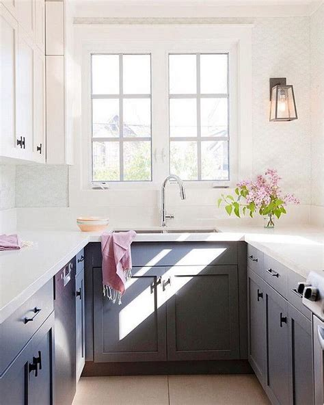 kitchen ideas white cabinets small kitchens black and white kitchen with light gray tiles cottage