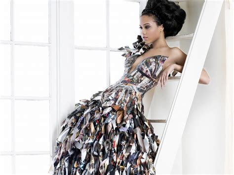 Outens Plight To Make Recycling Fashionable by Papier Couture S Lia Griffith Makes Stunning Gowns From