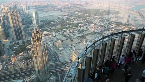 burj khalifa observation deck height uae dubai january 31 2016 on observation deck