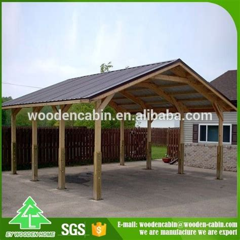 cheap price prefab wooden carport car wooden carport