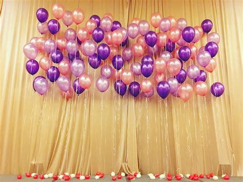 Wedding Backdrop Balloons by Helium Balloon Stage Backdrop That Balloons