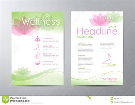 Wellness Brochure Stock Vector Illustration Of Lotus 60531518 Wellness Flyer Templates Free