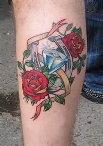 old diamond tattoo on arm