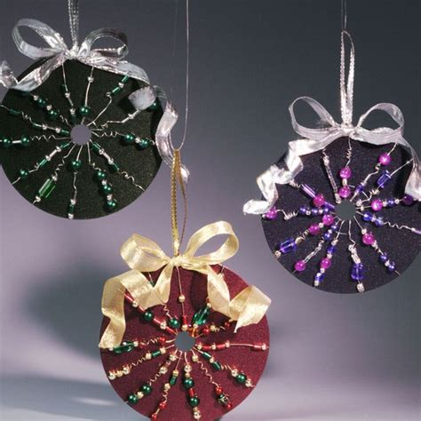 diy ornaments ribbon 24 brilliant upcycled cd crafts ideas for home decoration
