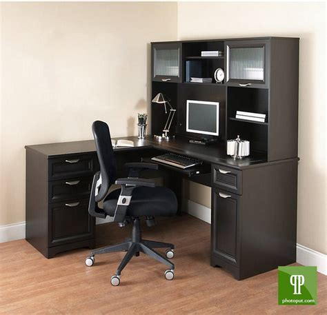 L Shaped Computer Desk With Hutch On Sale Furniture L Shaped Office Desk With Hutch For Home