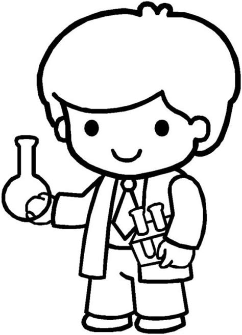 dibujos para colorear de cientificos un futiro cient 237 fico dibujalia dibujos para colorear