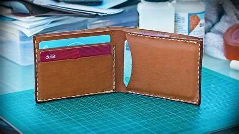 How To Re Dye Leather by How To Make A Basic Leather Wallet New